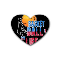 Basketball is my life Rubber Coaster (Heart)