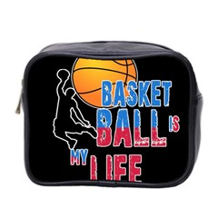 Basketball is my life Mini Toiletries Bag 2-Side