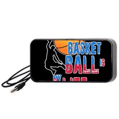 Basketball is my life Portable Speaker (Black)