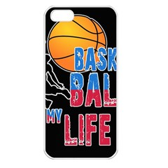 Basketball is my life Apple iPhone 5 Seamless Case (White)