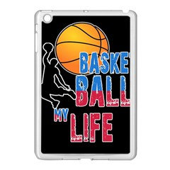 Basketball is my life Apple iPad Mini Case (White)