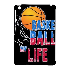 Basketball is my life Apple iPad Mini Hardshell Case (Compatible with Smart Cover)