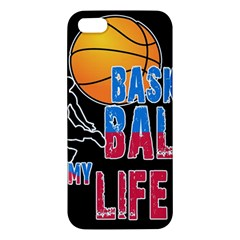 Basketball is my life Apple iPhone 5 Premium Hardshell Case