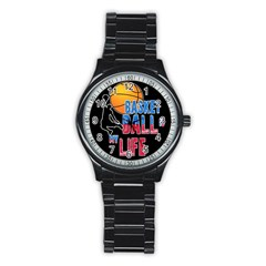 Basketball is my life Stainless Steel Round Watch