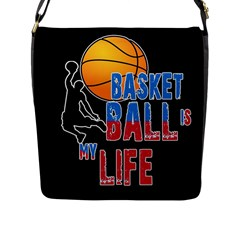Basketball is my life Flap Messenger Bag (L)