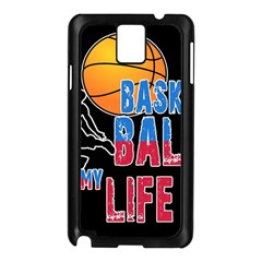 Basketball is my life Samsung Galaxy Note 3 N9005 Case (Black)