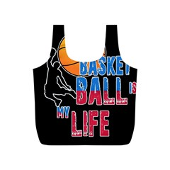 Basketball is my life Full Print Recycle Bags (S)
