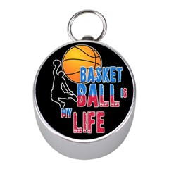 Basketball is my life Mini Silver Compasses