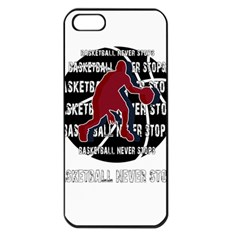 Basketball Never Stops Apple Iphone 5 Seamless Case (black) by Valentinaart