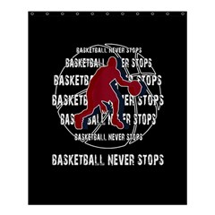 Basketball Never Stops Shower Curtain 60  X 72  (medium)  by Valentinaart
