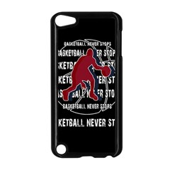 Basketball Never Stops Apple Ipod Touch 5 Case (black) by Valentinaart