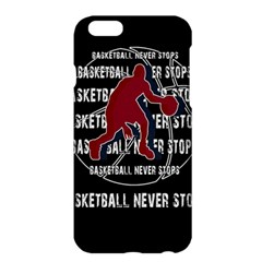 Basketball Never Stops Apple Iphone 6 Plus/6s Plus Hardshell Case by Valentinaart