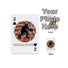 Basketball Never Stops Playing Cards 54 (mini)  by Valentinaart