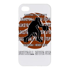 Basketball Never Stops Apple Iphone 4/4s Hardshell Case by Valentinaart