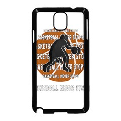 Basketball Never Stops Samsung Galaxy Note 3 Neo Hardshell Case (black)