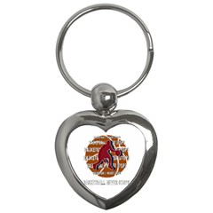 Basketball Never Stops Key Chains (heart)  by Valentinaart