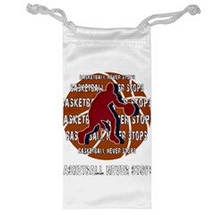 Basketball Never Stops Jewelry Bag by Valentinaart