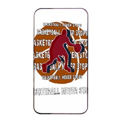 Basketball Never Stops Apple Iphone 4/4s Seamless Case (black) by Valentinaart