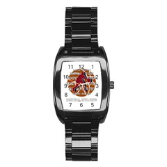 Basketball Never Stops Stainless Steel Barrel Watch by Valentinaart