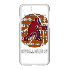 Basketball Never Stops Apple Iphone 7 Seamless Case (white) by Valentinaart