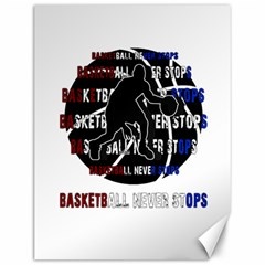 Basketball Never Stops Canvas 12  X 16   by Valentinaart