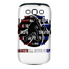 Basketball Never Stops Samsung Galaxy S Iii Classic Hardshell Case (pc+silicone) by Valentinaart