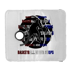 Basketball Never Stops Galaxy S3 (flip/folio) by Valentinaart