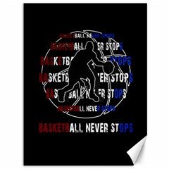 Basketball Never Stops Canvas 36  X 48   by Valentinaart