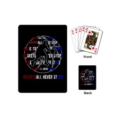 Basketball Never Stops Playing Cards (mini)  by Valentinaart