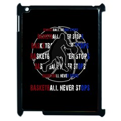 Basketball Never Stops Apple Ipad 2 Case (black) by Valentinaart