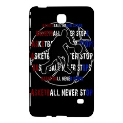 Basketball Never Stops Samsung Galaxy Tab 4 (7 ) Hardshell Case  by Valentinaart