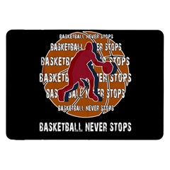 Basketball Never Stops Samsung Galaxy Tab 8 9  P7300 Flip Case by Valentinaart