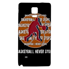 Basketball Never Stops Galaxy Note 4 Back Case by Valentinaart