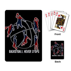 Basketball Never Stops Playing Card by Valentinaart