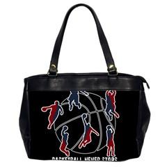 Basketball Never Stops Office Handbags (2 Sides)  by Valentinaart