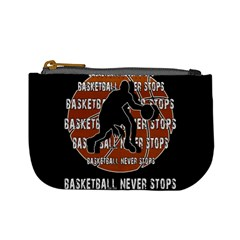 Basketball Never Stops Mini Coin Purses by Valentinaart