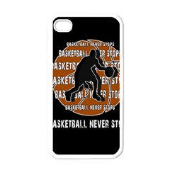 Basketball Never Stops Apple Iphone 4 Case (white) by Valentinaart