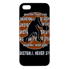 Basketball Never Stops Iphone 5s/ Se Premium Hardshell Case by Valentinaart