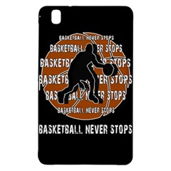 Basketball Never Stops Samsung Galaxy Tab Pro 8 4 Hardshell Case by Valentinaart