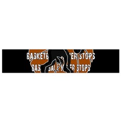 Basketball Never Stops Flano Scarf (small) by Valentinaart