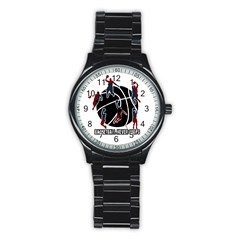 Basketball Never Stops Stainless Steel Round Watch by Valentinaart