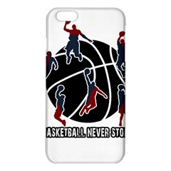 Basketball Never Stops Iphone 6 Plus/6s Plus Tpu Case by Valentinaart