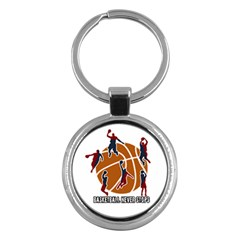 Basketball Never Stops Key Chains (round)  by Valentinaart