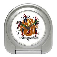 Basketball Never Stops Travel Alarm Clocks by Valentinaart