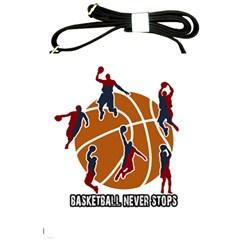 Basketball Never Stops Shoulder Sling Bags by Valentinaart