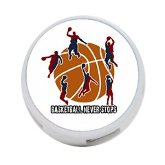 Basketball Never Stops 4 Port Usb Hub (two Sides)  by Valentinaart