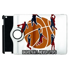Basketball Never Stops Apple Ipad 3/4 Flip 360 Case by Valentinaart