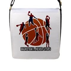 Basketball Never Stops Flap Messenger Bag (l)  by Valentinaart