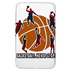 Basketball Never Stops Samsung Galaxy Tab 3 (8 ) T3100 Hardshell Case  by Valentinaart