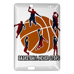 Basketball Never Stops Amazon Kindle Fire Hd (2013) Hardshell Case by Valentinaart